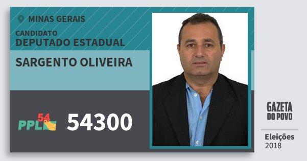 Santinho Sargento Oliveira 54300 (PPL) Deputado Estadual | Minas Gerais | Eleições 2018
