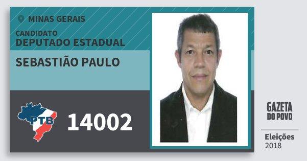 Santinho Sebastião Paulo 14002 (PTB) Deputado Estadual | Minas Gerais | Eleições 2018