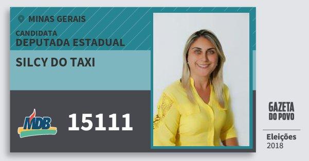 Santinho Silcy do Taxi 15111 (MDB) Deputada Estadual | Minas Gerais | Eleições 2018