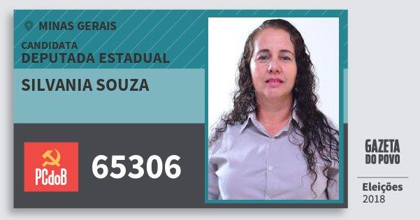 Santinho Silvania Souza 65306 (PC do B) Deputada Estadual | Minas Gerais | Eleições 2018