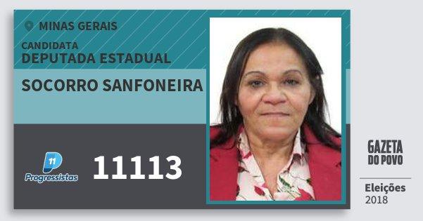 Santinho Socorro Sanfoneira 11113 (PP) Deputada Estadual | Minas Gerais | Eleições 2018