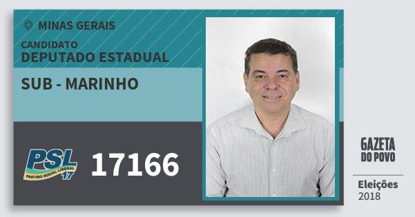 Santinho Sub - Marinho 17166 (PSL) Deputado Estadual | Minas Gerais | Eleições 2018