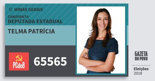 Santinho Telma Patrícia 65565 (PC do B) Deputada Estadual | Minas Gerais | Eleições 2018