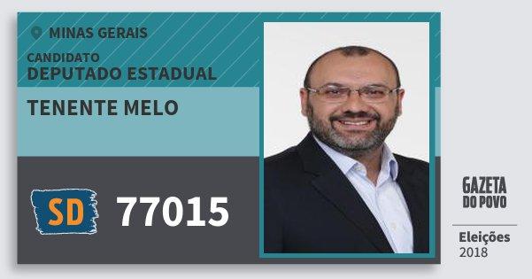 Santinho Tenente Melo 77015 (SOLIDARIEDADE) Deputado Estadual | Minas Gerais | Eleições 2018