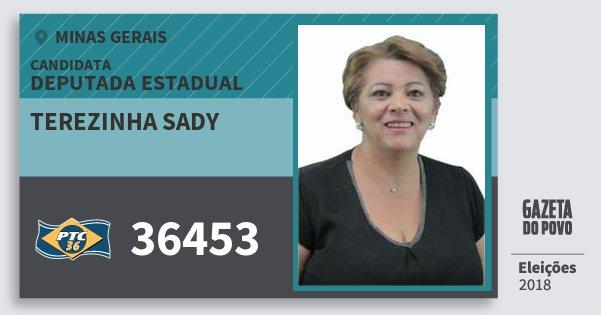 Santinho Terezinha Sady 36453 (PTC) Deputada Estadual   Minas Gerais   Eleições 2018