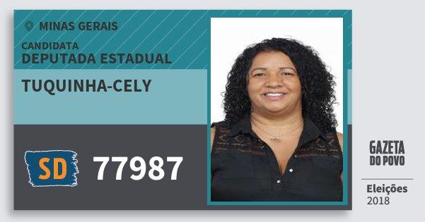 Santinho Tuquinha-Cely 77987 (SOLIDARIEDADE) Deputada Estadual   Minas Gerais   Eleições 2018