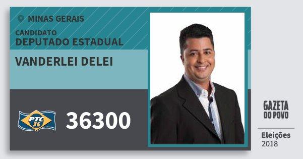 Santinho Vanderlei Delei 36300 (PTC) Deputado Estadual | Minas Gerais | Eleições 2018