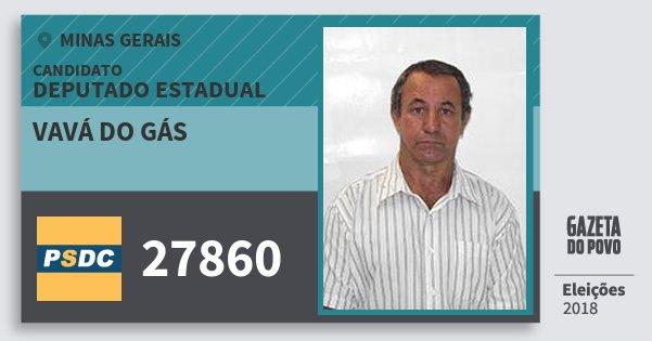 Santinho Vavá do Gás 27860 (DC) Deputado Estadual | Minas Gerais | Eleições 2018