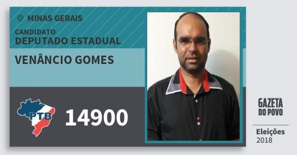 Santinho Venâncio Gomes 14900 (PTB) Deputado Estadual | Minas Gerais | Eleições 2018