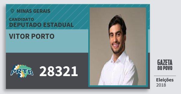 Santinho Vitor Porto 28321 (PRTB) Deputado Estadual | Minas Gerais | Eleições 2018