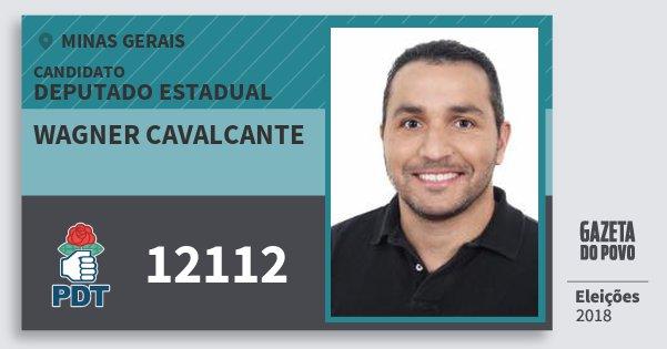 Santinho Wagner Cavalcante 12112 (PDT) Deputado Estadual | Minas Gerais | Eleições 2018