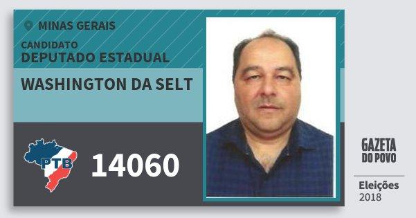 Santinho Washington da Selt 14060 (PTB) Deputado Estadual | Minas Gerais | Eleições 2018