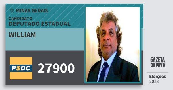 Santinho William 27900 (DC) Deputado Estadual   Minas Gerais   Eleições 2018