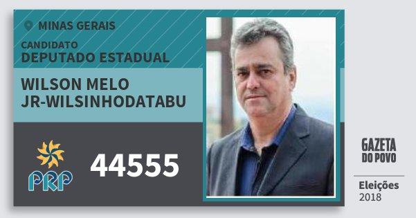 Santinho Wilson Melo Jr-Wilsinhodatabu 44555 (PRP) Deputado Estadual   Minas Gerais   Eleições 2018