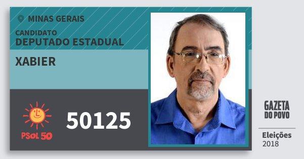 Santinho Xabier 50125 (PSOL) Deputado Estadual | Minas Gerais | Eleições 2018