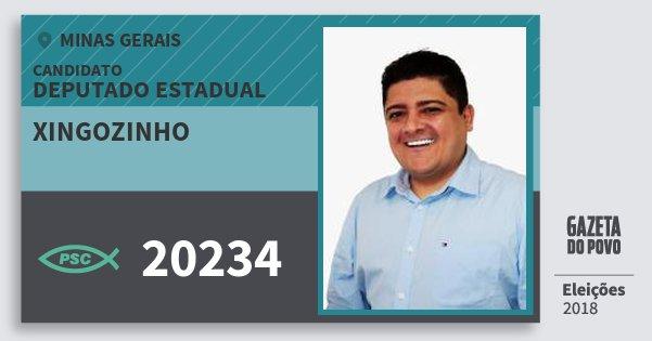 Santinho Xingozinho 20234 (PSC) Deputado Estadual | Minas Gerais | Eleições 2018