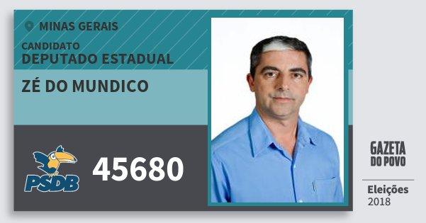 Santinho Zé do Mundico 45680 (PSDB) Deputado Estadual | Minas Gerais | Eleições 2018