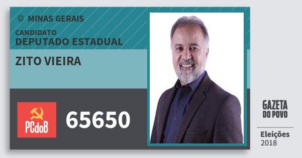 Santinho Zito Vieira 65650 (PC do B) Deputado Estadual | Minas Gerais | Eleições 2018