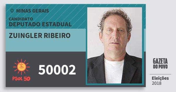 Santinho Zuingler Ribeiro 50002 (PSOL) Deputado Estadual | Minas Gerais | Eleições 2018