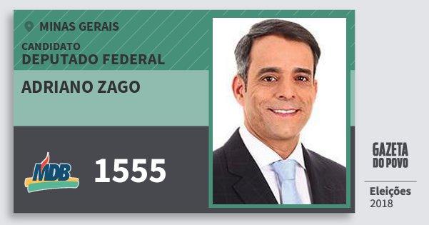 Santinho Adriano Zago 1555 (MDB) Deputado Federal | Minas Gerais | Eleições 2018