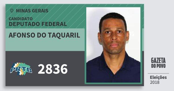 Santinho Afonso do Taquaril 2836 (PRTB) Deputado Federal | Minas Gerais | Eleições 2018