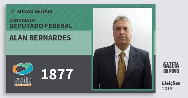 Santinho Alan Bernardes 1877 (REDE) Deputado Federal | Minas Gerais | Eleições 2018