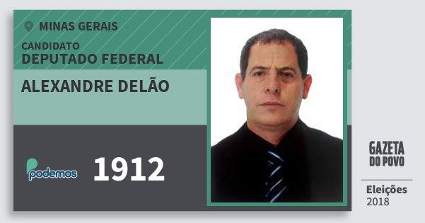 Santinho Alexandre Delão 1912 (PODE) Deputado Federal | Minas Gerais | Eleições 2018