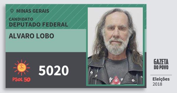 Santinho Alvaro Lobo 5020 (PSOL) Deputado Federal | Minas Gerais | Eleições 2018