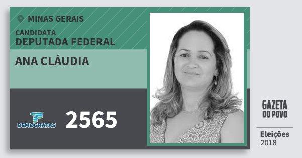 Santinho Ana Cláudia 2565 (DEM) Deputada Federal | Minas Gerais | Eleições 2018