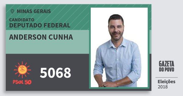 Santinho Anderson Cunha 5068 (PSOL) Deputado Federal | Minas Gerais | Eleições 2018