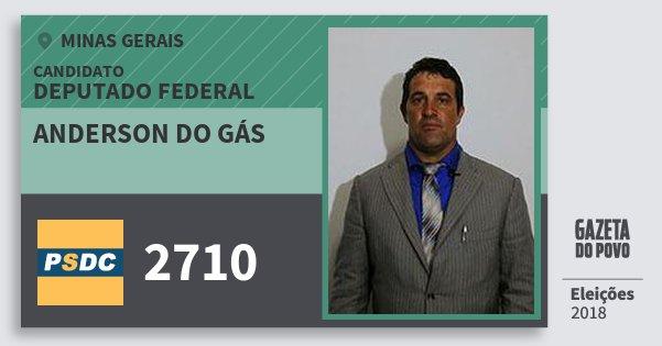 Santinho Anderson do Gás 2710 (DC) Deputado Federal | Minas Gerais | Eleições 2018