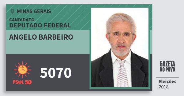 Santinho Angelo Barbeiro 5070 (PSOL) Deputado Federal | Minas Gerais | Eleições 2018