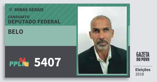Santinho Belo 5407 (PPL) Deputado Federal | Minas Gerais | Eleições 2018