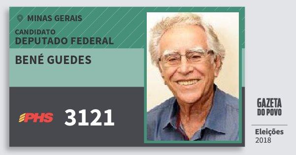 Santinho Bené Guedes 3121 (PHS) Deputado Federal | Minas Gerais | Eleições 2018