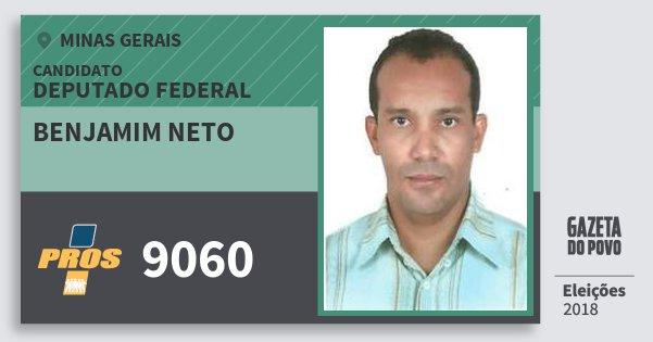 Santinho Benjamim Neto 9060 (PROS) Deputado Federal | Minas Gerais | Eleições 2018
