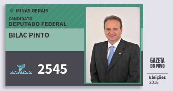 Santinho Bilac Pinto 2545 (DEM) Deputado Federal | Minas Gerais | Eleições 2018