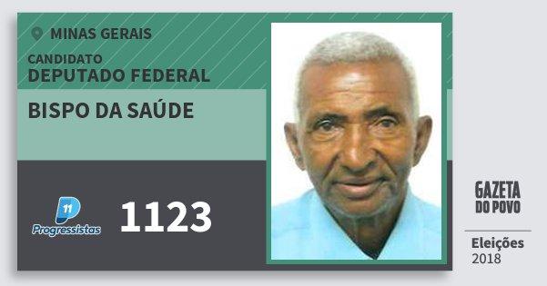 Santinho Bispo da Saúde 1123 (PP) Deputado Federal | Minas Gerais | Eleições 2018