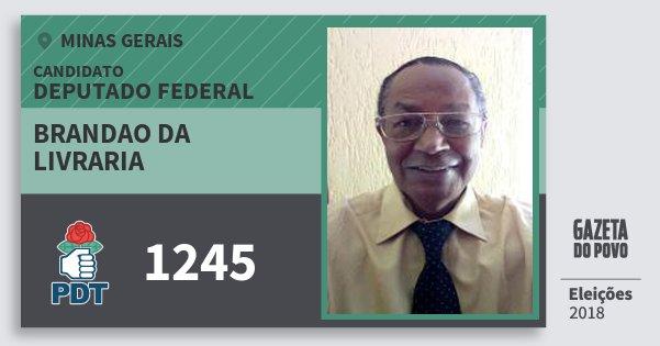 Santinho Brandao da Livraria 1245 (PDT) Deputado Federal | Minas Gerais | Eleições 2018
