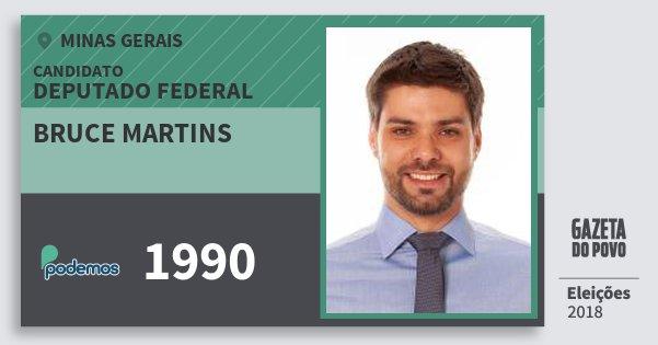 Santinho Bruce Martins 1990 (PODE) Deputado Federal | Minas Gerais | Eleições 2018