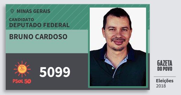 Santinho Bruno Cardoso 5099 (PSOL) Deputado Federal | Minas Gerais | Eleições 2018
