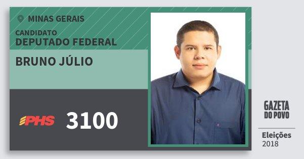 Santinho Bruno Júlio 3100 (PHS) Deputado Federal | Minas Gerais | Eleições 2018