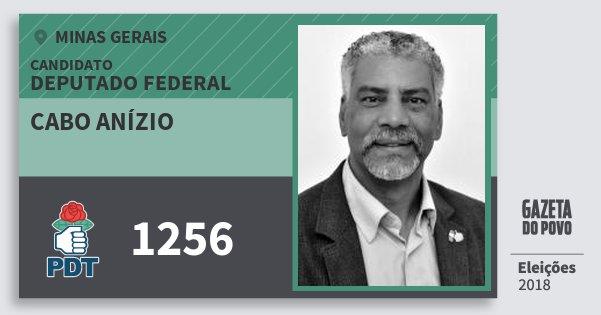 Santinho Cabo Anízio 1256 (PDT) Deputado Federal | Minas Gerais | Eleições 2018