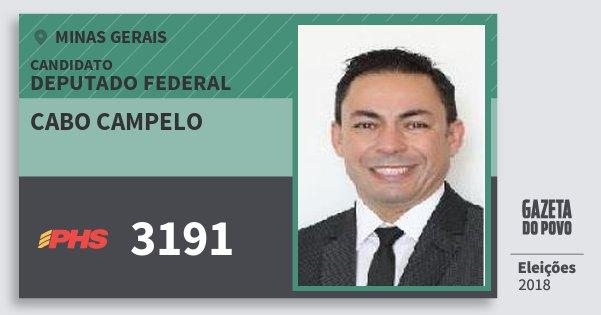 Santinho Cabo Campelo 3191 (PHS) Deputado Federal | Minas Gerais | Eleições 2018