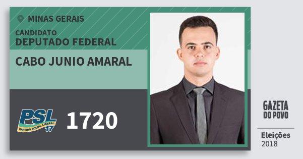 Santinho Cabo Junio Amaral 1720 (PSL) Deputado Federal | Minas Gerais | Eleições 2018