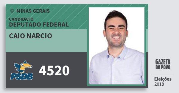 Santinho Caio Narcio 4520 (PSDB) Deputado Federal | Minas Gerais | Eleições 2018