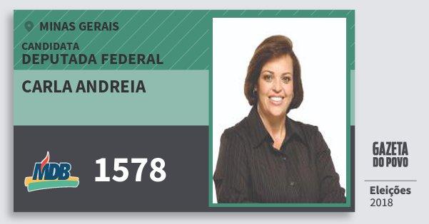 Santinho Carla Andreia 1578 (MDB) Deputada Federal | Minas Gerais | Eleições 2018