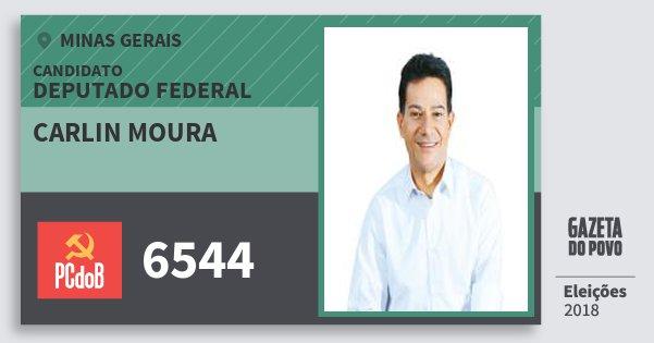 Santinho Carlin Moura 6544 (PC do B) Deputado Federal | Minas Gerais | Eleições 2018