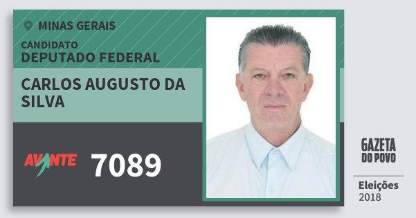 Santinho Carlos Augusto da Silva 7089 (AVANTE) Deputado Federal   Minas Gerais   Eleições 2018