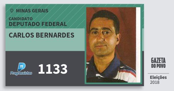 Santinho Carlos Bernardes 1133 (PP) Deputado Federal | Minas Gerais | Eleições 2018
