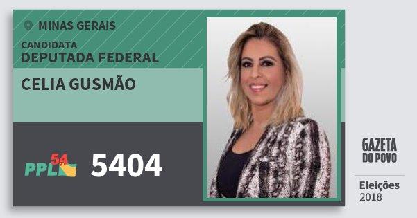 Santinho Celia Gusmão 5404 (PPL) Deputada Federal | Minas Gerais | Eleições 2018